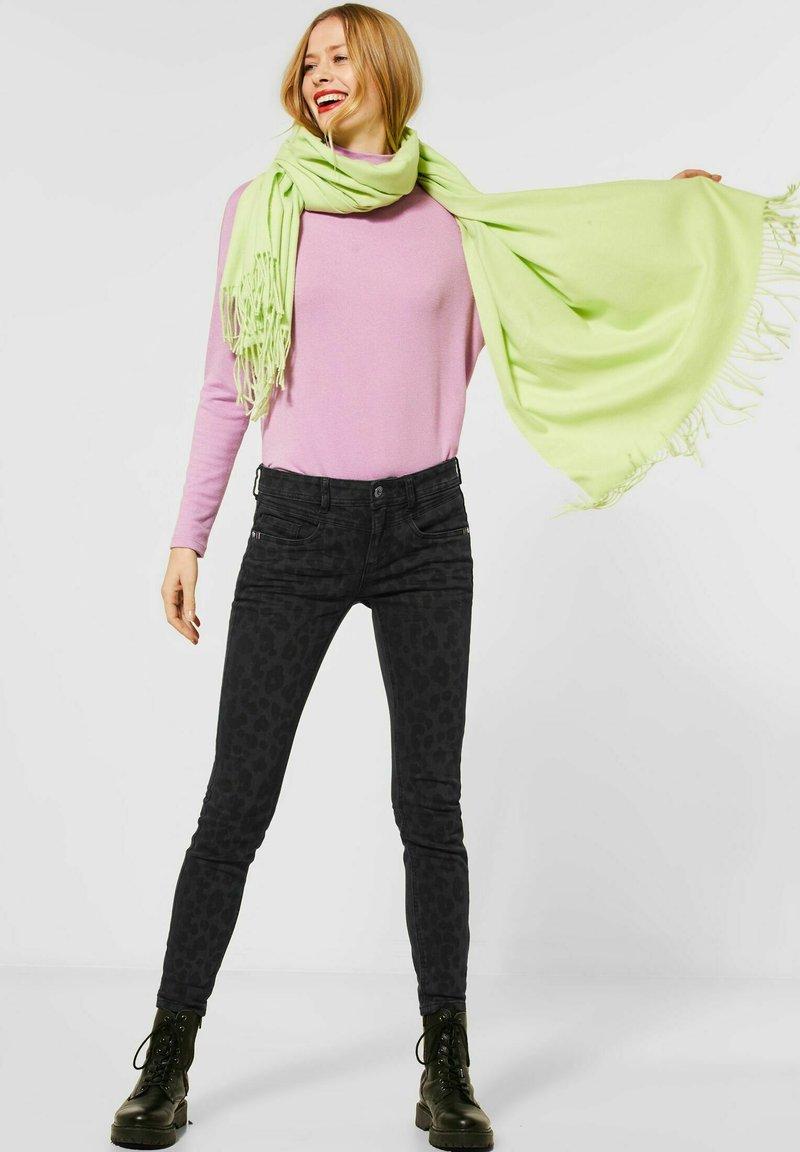 Street One - MIT LEO - Slim fit jeans - schwarz