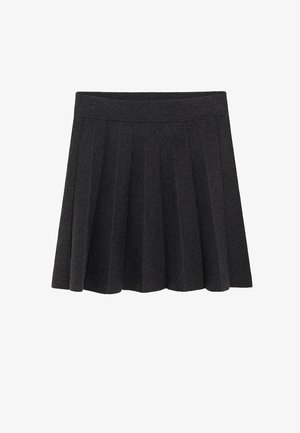 TABLITA - Pleated skirt - mørk lynggrå