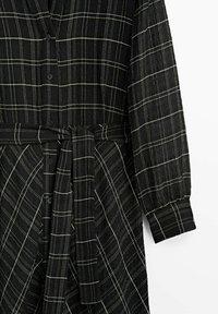 Massimo Dutti - KARIERTES - Maxiklänning - black - 4