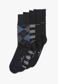 TOM TAILOR - SOCKS GRAPHICS 4 PACK - Strumpor - anthracite - 0