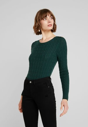 CROYDE CABLE  - Sweter - emerald green