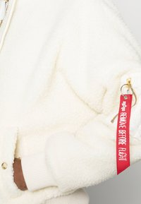 Alpha Industries - HOODED TEDDY - Winter jacket - off white - 4