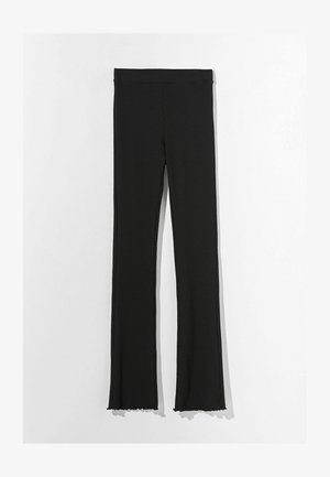 MIT PATENTMUSTER  - Trousers - black