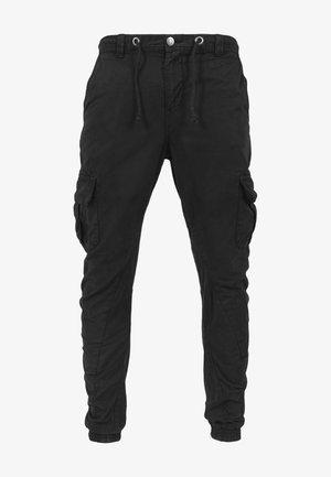 HERREN BOYS JOGGING PANTS - Cargo trousers - black