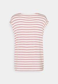 TOM TAILOR DENIM - STRIPED RELAXED TEE - Print T-shirt - rose/white - 1