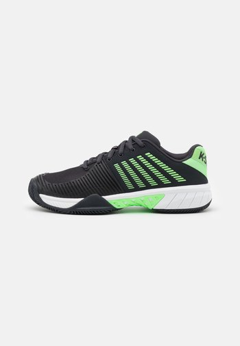 EXPRESS LIGHT 2 - Clay court tennis shoes - blue graphite/soft neon green/white