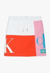 Calvin Klein Jeans - MONOGRAM PATHCHWORK LIGHT SKIRT - Mini skirt - multi - 0