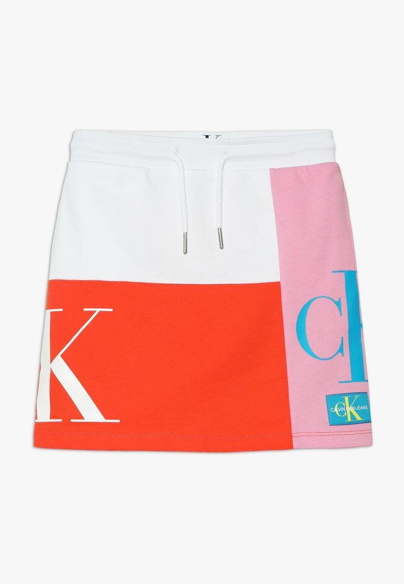 Calvin Klein Jeans - MONOGRAM PATHCHWORK LIGHT SKIRT - Mini skirt - multi