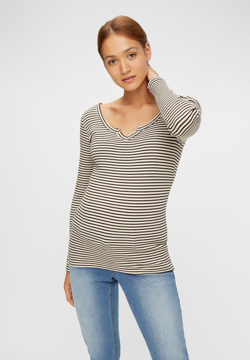 Pieces Maternity - PCMBANO - Long sleeved top - whitecap gray
