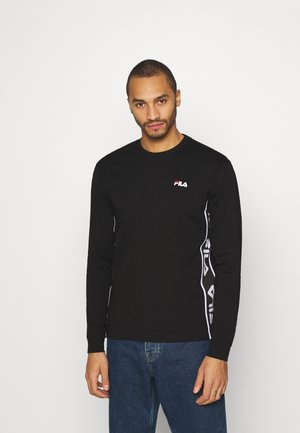 TEDOS TAPE LONG SLEEVE - Long sleeved top - black