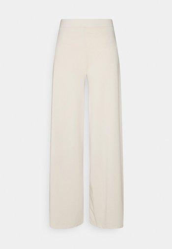 MY LUXE FLOWY PANTS - Broek - creme