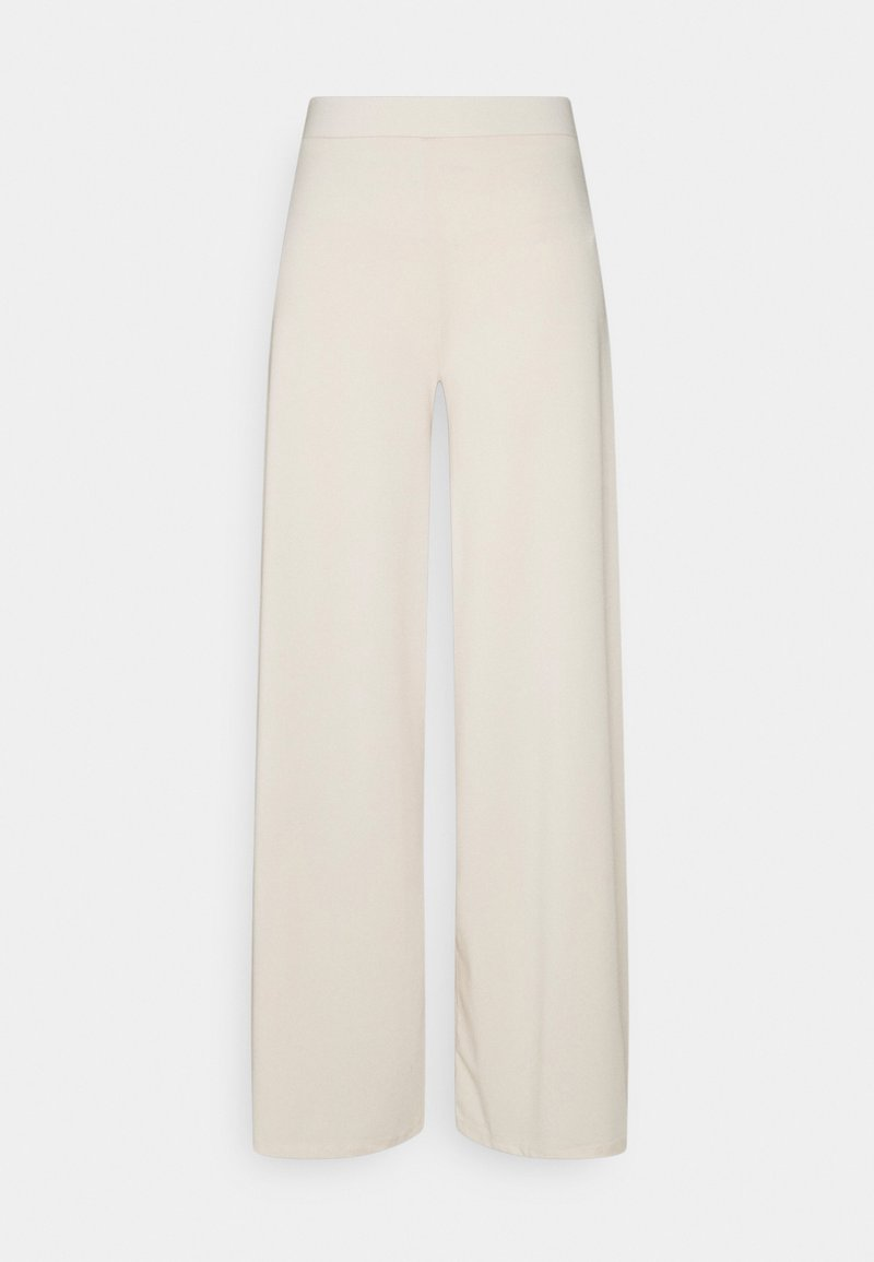 Nly by Nelly - MY LUXE FLOWY PANTS - Pantalones - creme