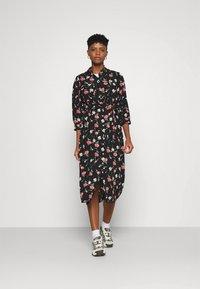 ONLY - ONLNOVA LUX 3/4 LONG DRESS - Košilové šaty - black - 1