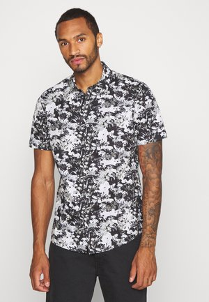 SMART CAMO FLORAL - Košile - black/white