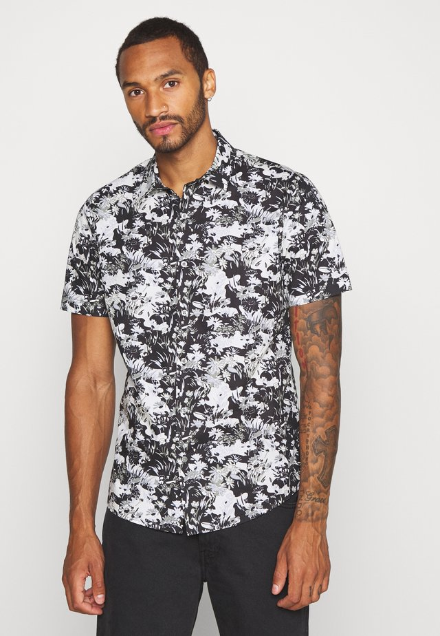 SMART CAMO FLORAL - Shirt - black/white