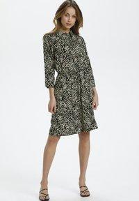Soaked in Luxury - Shirt dress - black bean print - 0