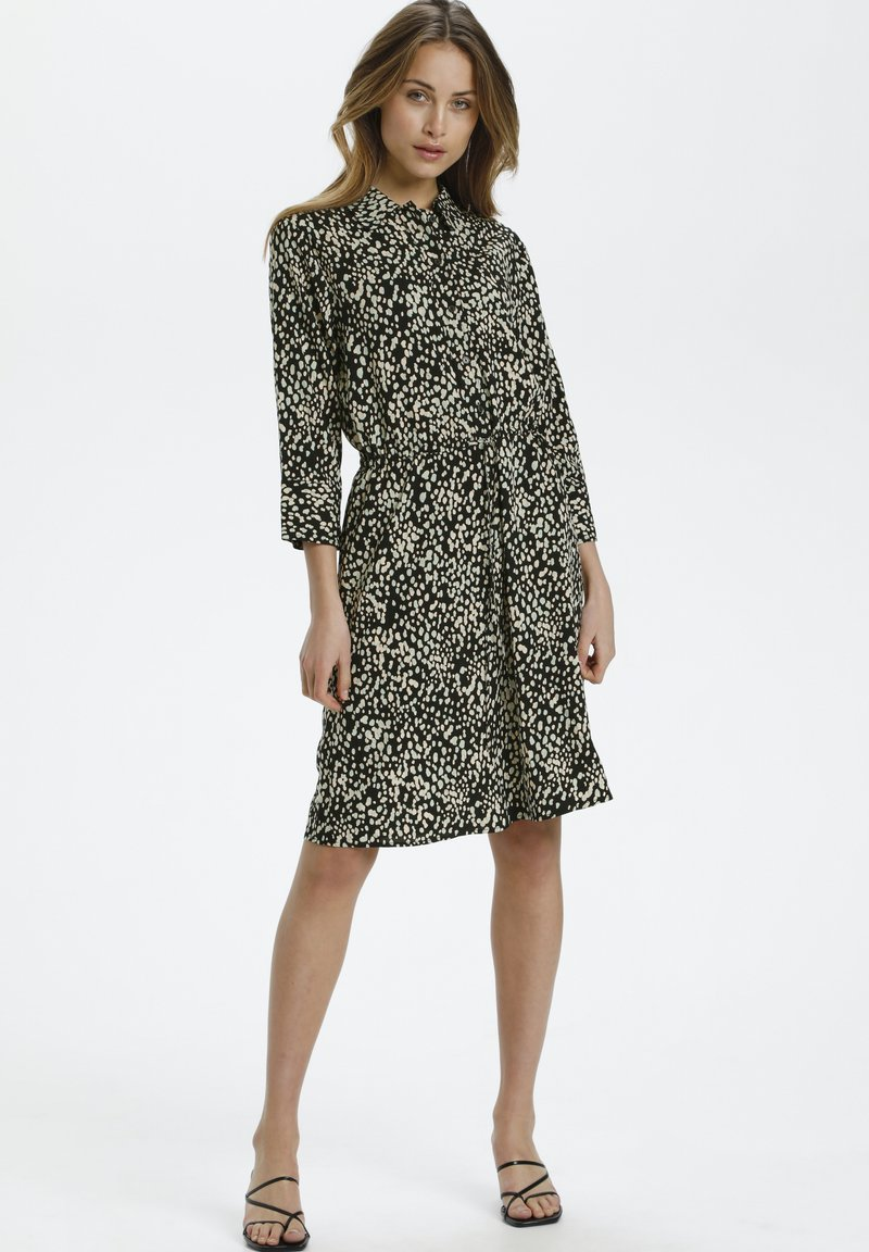 Soaked in Luxury - Shirt dress - black bean print