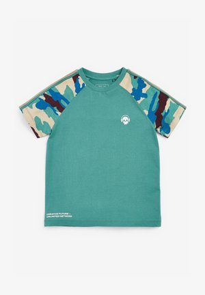 CAMOUFLAGE RAGLAN - T-shirt con stampa - teal