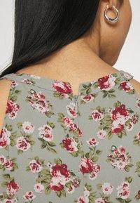 Vila - VIMILINA FLOWER DRESS - Occasion wear - green milieu/red/pink - 4