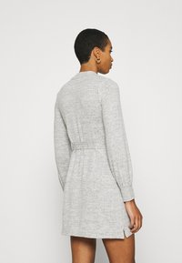 Abercrombie & Fitch - BELTED COZY DRESS - Jumper dress - gray - 2