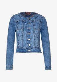 MIT NIETEN - Denim jacket - blau