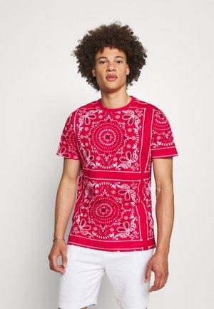 Print T-shirt - red/optic white/jet black