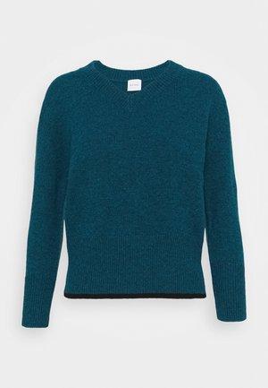 VNECK JUMPER - Pullover - blue