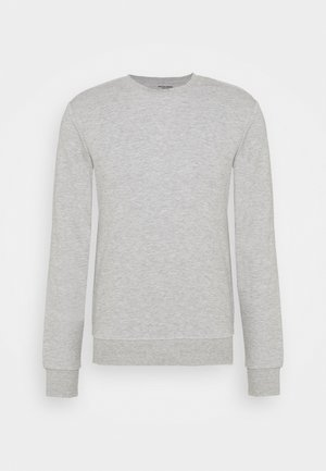 JJEBASIC CREW NECK - Sweatshirt - light grey melange