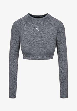 CROPPED LONGSLEEVE - T-shirt sportiva - grey