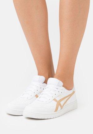 JAPAN S - Sneakersy niskie - white/camel beige