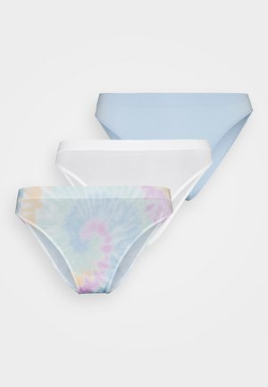 SEAMLESS 3 PACK - Briefs - white/skyway blue/multi-coloured