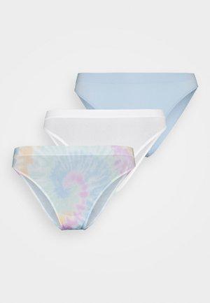 SEAMLESS 3 PACK - Kalhotky - white/skyway blue/multi-coloured