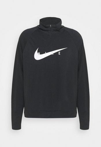 RUN MIDLAYER PLUS - Sports shirt - black/white