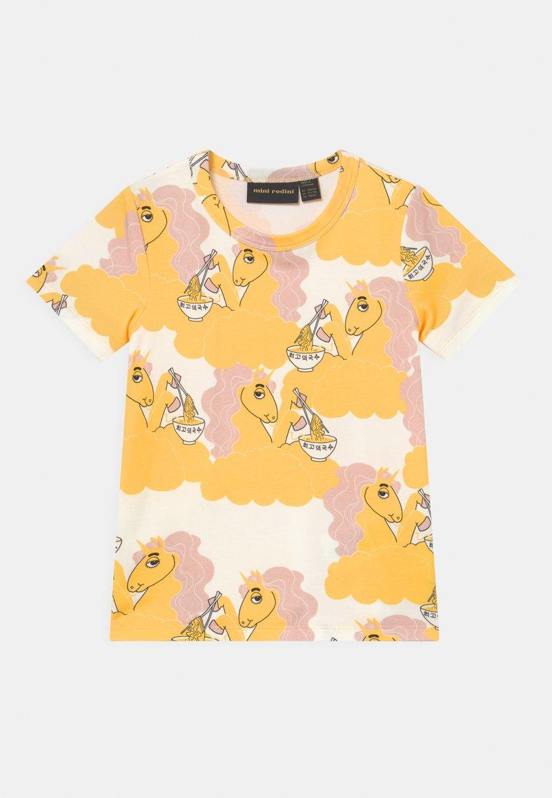 Mini Rodini - UNICORN NOODLES UNISEX - Print T-shirt - yellow