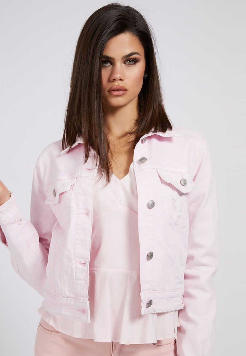 Guess - REGULAR FIT - Denim jacket - hellrose
