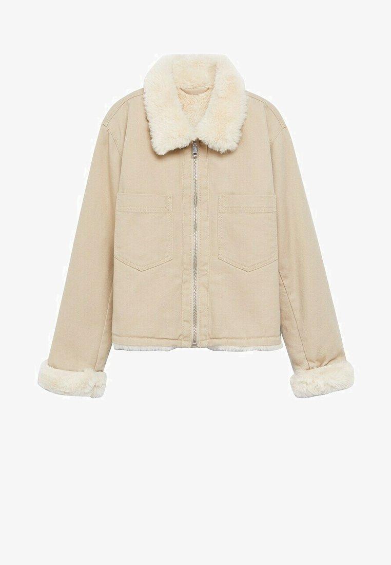 Mango - Winter jacket - beige