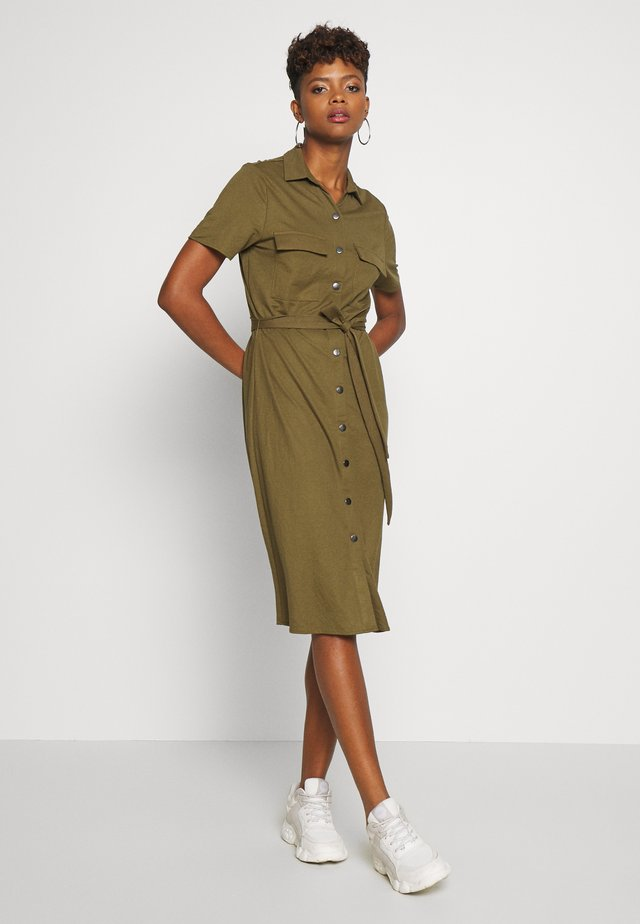 Shirt dress - dark olive