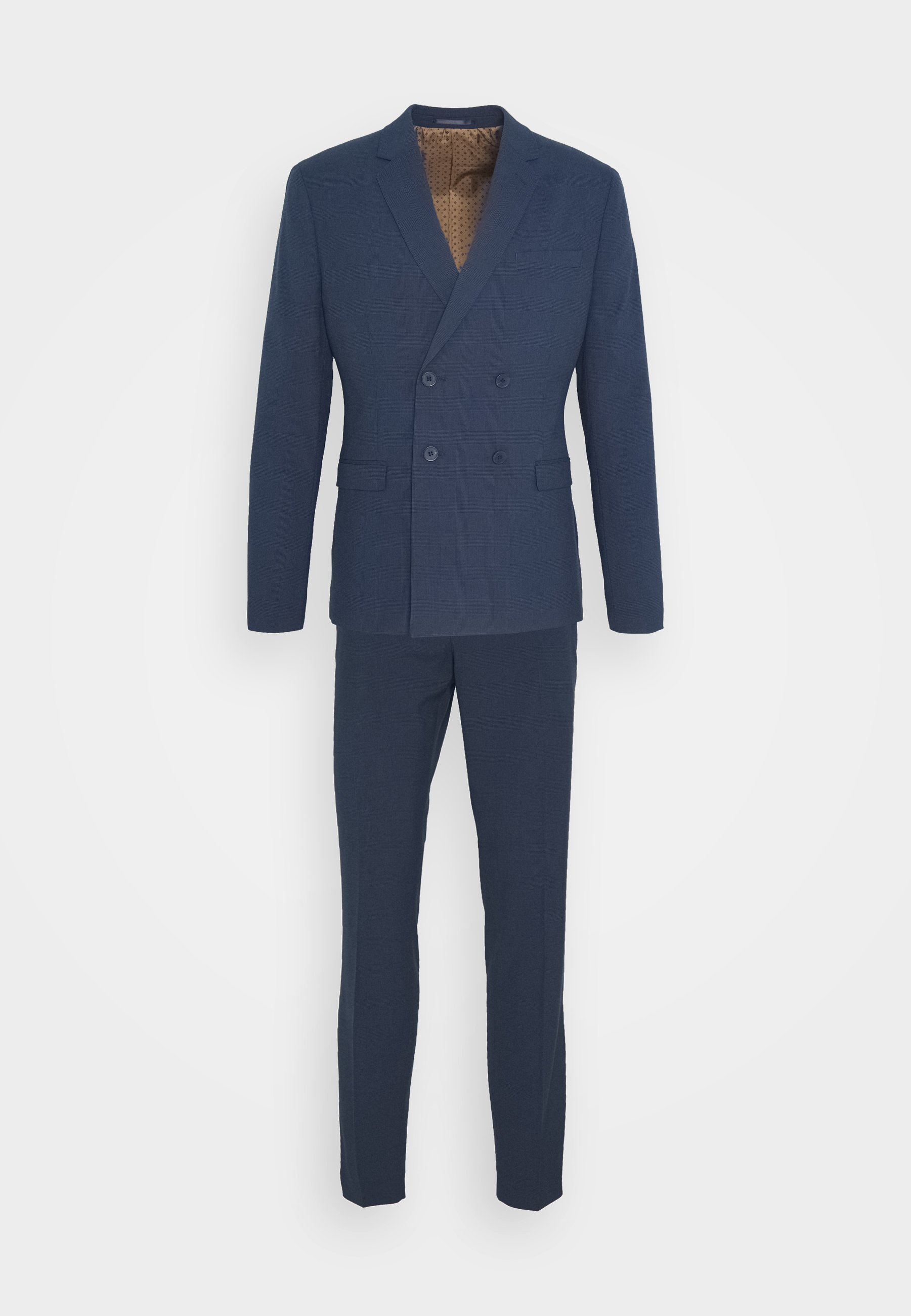 Isaac Dewhirst CHECK SUIT DOUBLE BREASTED - Dress - dark blue