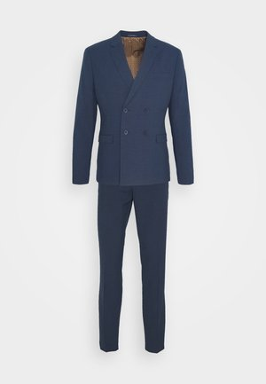 CHECK SUIT DOUBLE BREASTED - Costume - dark blue