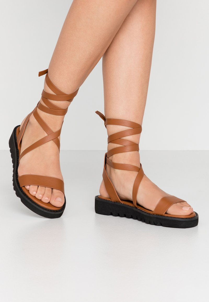 Even&Odd - Sandals - cognac