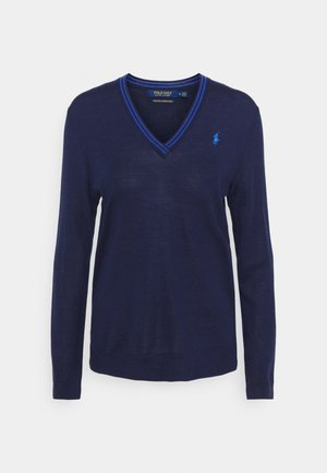 LONG SLEEVE - Sweter - french navy/summer royal