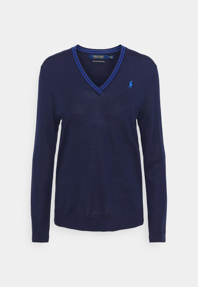 LONG SLEEVE - Strikkegenser - french navy/summer royal