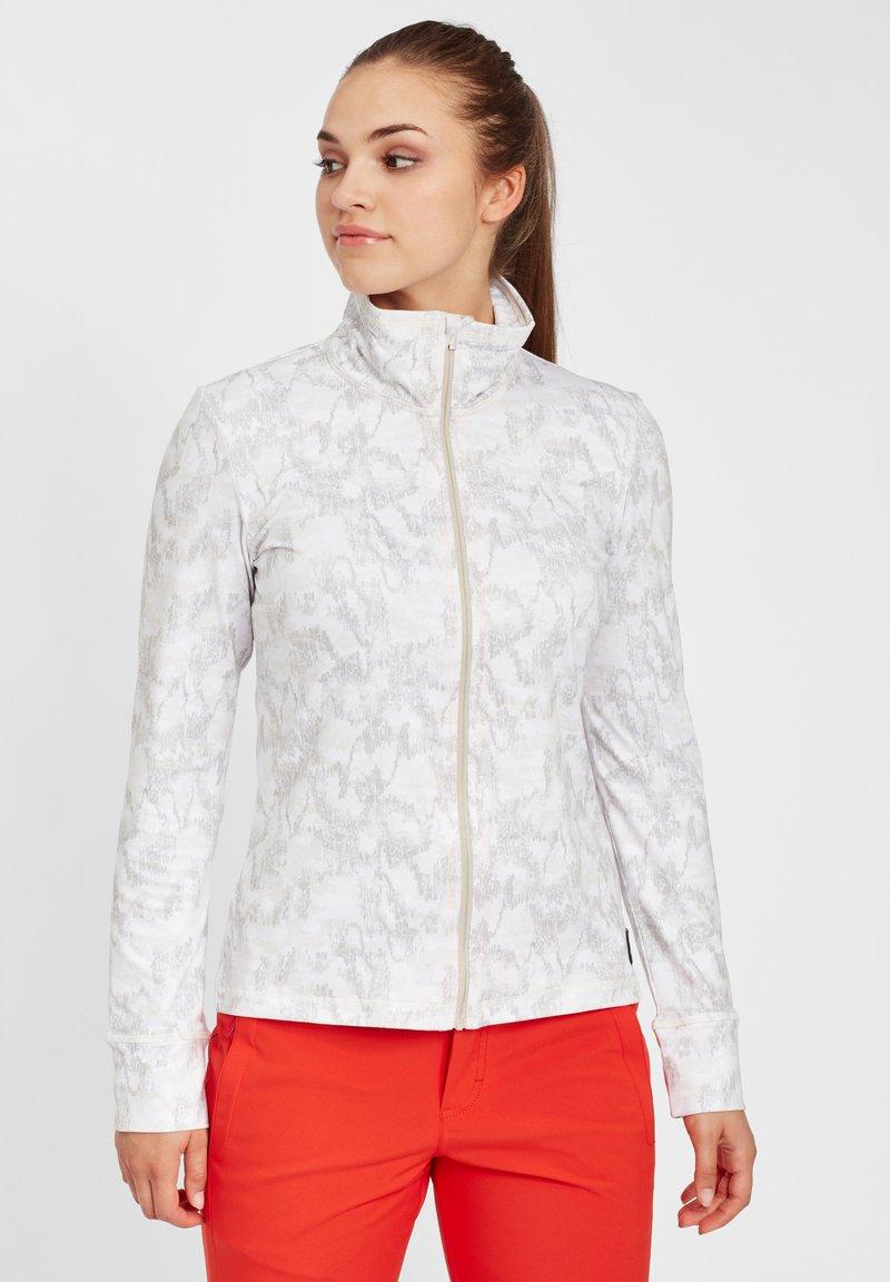 O'Neill - CLIME  - Fleece jacket - white aop w/ brown or beige