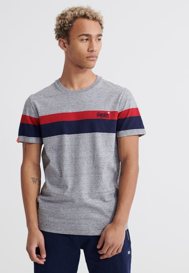 CLASSIC STRIPE TEE - Print T-shirt - collective dark grey grit