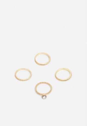 ONLANNE RINGS 4 PACK - Pierścionek - gold-coloured