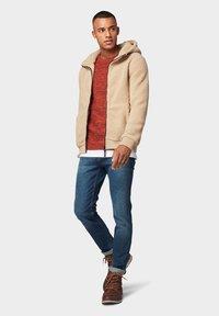 TOM TAILOR DENIM - Slim fit jeans - dark blue denim - 1