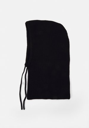 STRICKKAPUZE / KNIT HOOD - Lue - black