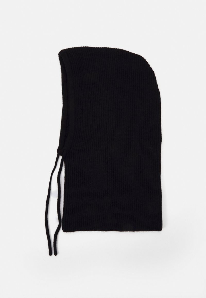 Pier One - STRICKKAPUZE / KNIT HOOD - Beanie - black