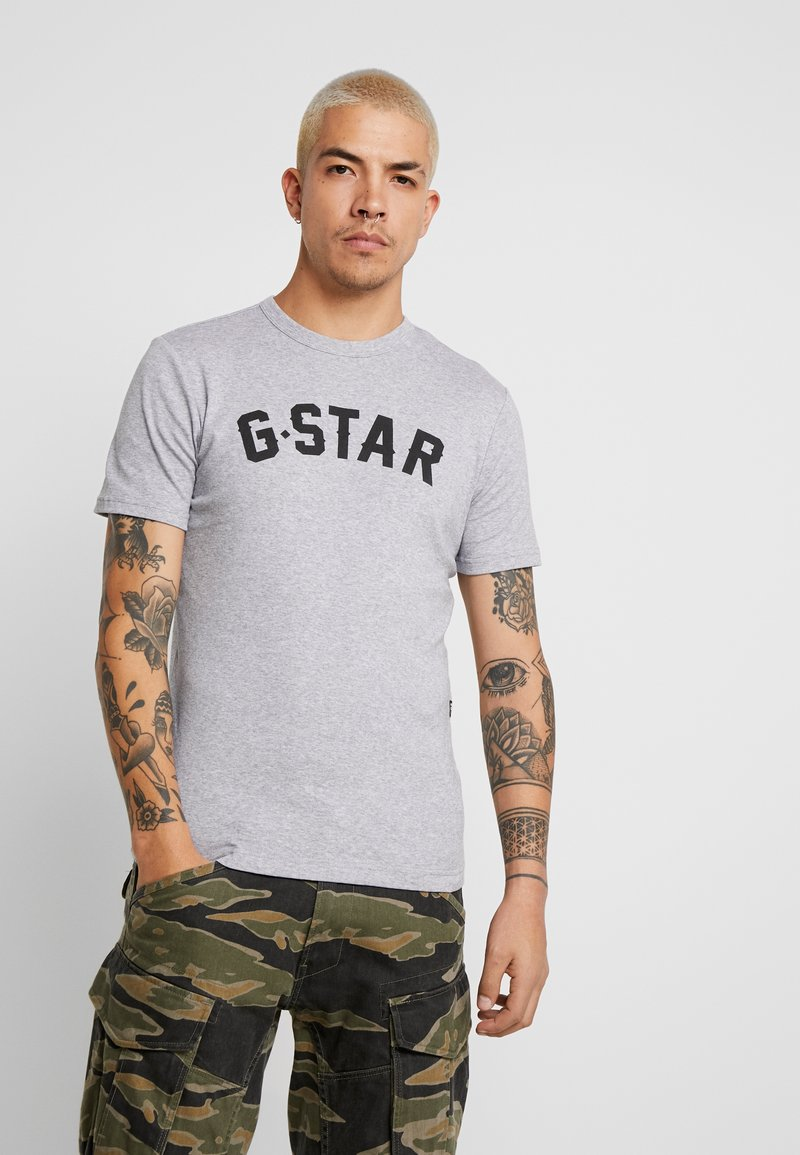 G-Star - GRAPHIC 16 R T S/S - T-Shirt print - grey heather
