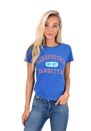MANHATTAN  - Print T-shirt - blue